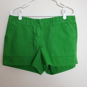 Green J.Crew Shorts Size 10